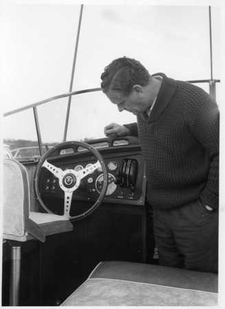 Christina May 1960 - Bruce Campbell inspects the dashboard